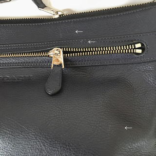 COACH(コーチ)の【美品】coach レザーショルダーバッグ ネイビー レディースのバッグ(ショルダーバッグ)の商品写真
