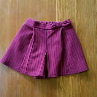 ジーユー(GU)のGU 赤キュロットスカート 130(スカート)