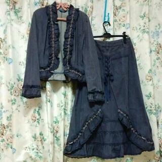 ピンクハウス(PINK HOUSE)のyukimatsu 様 専用 ピンクハウス デニムジャケットとスカートのセット(Gジャン/デニムジャケット)