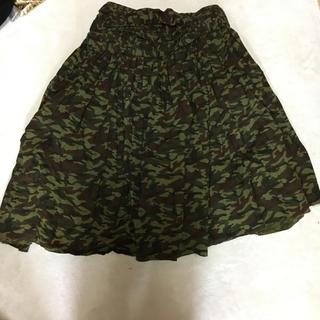 コムデギャルソン(COMME des GARCONS)のコムデギャルソン💜迷彩スカート(ひざ丈スカート)