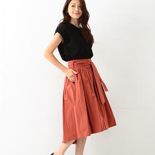 デミルクスビームス(Demi-Luxe BEAMS)のDemi-Luxe BEAMS / ウエストリボンギャザースカート(ひざ丈スカート)