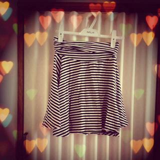 ローリーズファーム(LOWRYS FARM)のボーダースカート ♡(ミニスカート)
