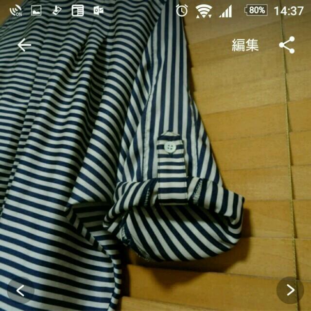 IENA(イエナ)の【美品】イエナ ストライプ シャツ レディースのトップス(シャツ/ブラウス(長袖/七分))の商品写真