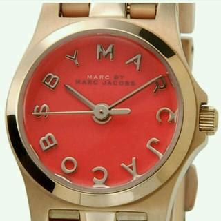 マークバイマークジェイコブス(MARC BY MARC JACOBS)の箱付き・状態良好♪ マークバイマークジェイコブス 腕時計  赤 レッド(腕時計)
