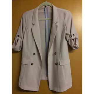 アンレリッシュ(UNRELISH)の春サーモンピンクジャケット(テーラードジャケット)