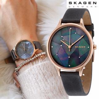 スカーゲン(SKAGEN)の大人気♪SKAGEN 星空グレーレザー SKW2390レディース腕時計(腕時計)