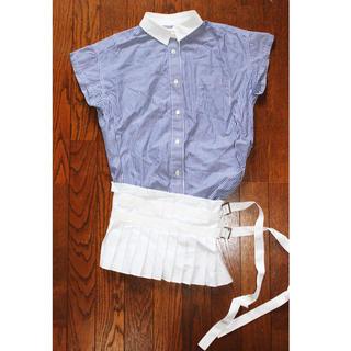 サカイラック(sacai luck)のsacai luck 半袖ブラウス プリーツスカート ドッキングデザイン(シャツ/ブラウス(半袖/袖なし))