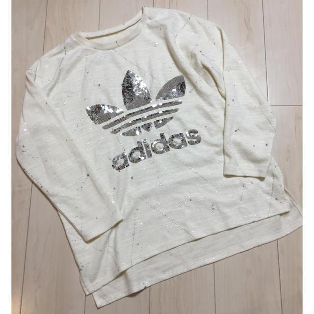 adidas(アディダス)のTiara様専用★adidas★スパンコールロンT★フリー★ レディースのトップス(Tシャツ(長袖/七分))の商品写真