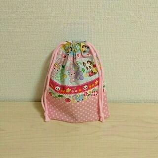 うさぎ♡パンダ×星柄 巾着袋(バッグ/レッスンバッグ)