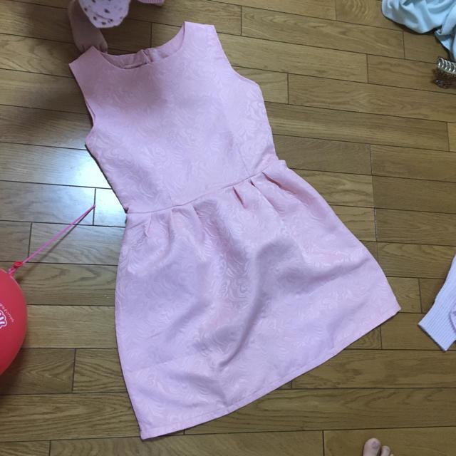 新品  ピンク ミニドレス レディースのフォーマル/ドレス(ミニドレス)の商品写真