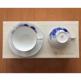 オクラ(OKURA)のペア  カップ&ソーサー(グラス/カップ)