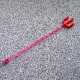 コスプレ用などの杖 ピンク プラスチック製 約46.5 x 6 x 2.7 cm(小道具)
