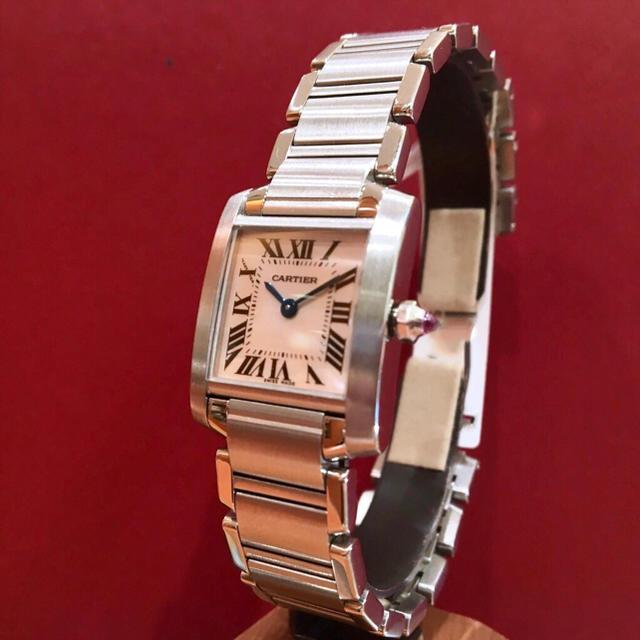 Cartier(カルティエ)の美品✨Cartier ピンクシェル カルティエ タンクフランセーズ  レディースのファッション小物(腕時計)の商品写真