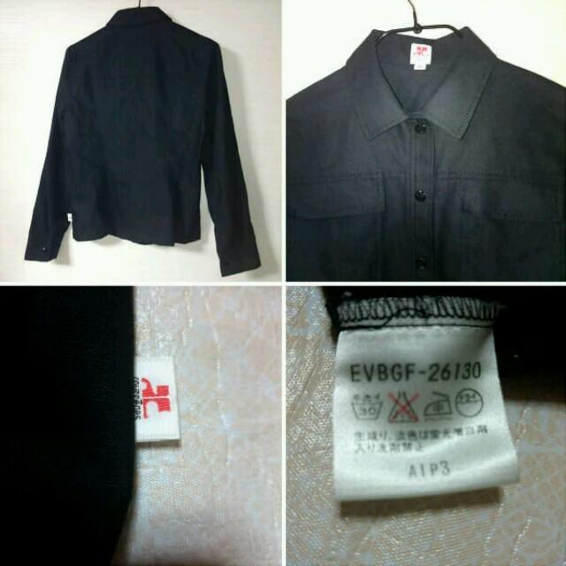 Courreges(クレージュ)のクレージュ長袖ブラウス シャツ 38 黒 wo 春 秋 麻 リネン ブラック レディースのトップス(シャツ/ブラウス(長袖/七分))の商品写真