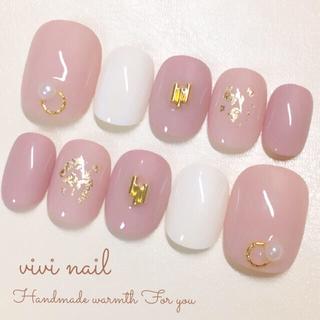 シンプルなくすみピンクネイル コスメ/美容のネイル(つけ爪/ネイルチップ)の商品写真