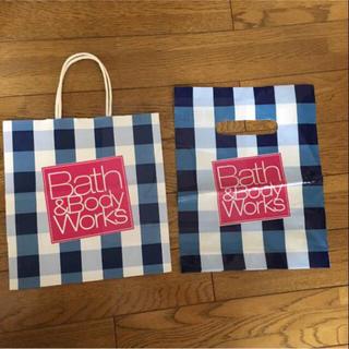 バスアンドボディーワークス(Bath & Body Works)のbath&bodyworks ショップ袋 2点セット(ショップ袋)