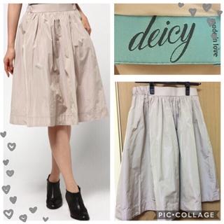 デイシー(deicy)の【新品】deicy♡メモリーサテンスカート(ひざ丈スカート)