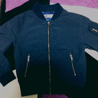 エイチアンドエム(H&M)のパーポさん専用!春先に大活用 H&M 薄手のMA-1 ネイビー サイズ120(ジャケット/上着)