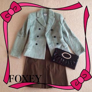 フォクシー(FOXEY)のFOXEYペパーミントグリーンジャケット(テーラードジャケット)
