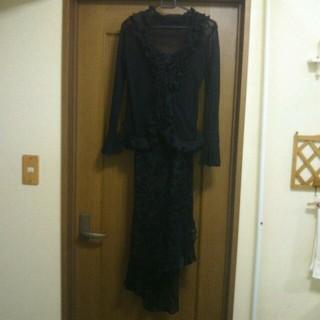 シマムラ(しまむら)の美品ボレロ付きロングパーティードレス♪(ミディアムドレス)