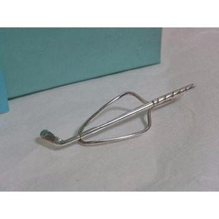 ティファニー(Tiffany & Co.)の正規良 廃盤 ティファニー ゴルフクラブモチーフネクタイピンSV925 タイピン(ネクタイピン)
