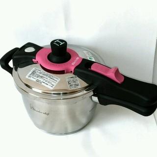 ワンダーシェフ(ワンダーシェフ)の圧力鍋 ワンダーシェフ 3.0L  60091「展示・未使用」(鍋/フライパン)