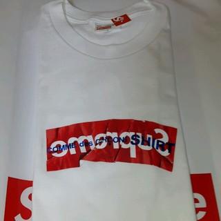 シュプリーム(Supreme)のsupreme×COMME des GARÇONS ギャルソンtee 正規品(Tシャツ(半袖/袖なし))