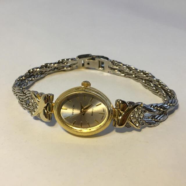 送料無料 REVLON 腕時計 ウォッチ ゴールド、シルバー、コンビ レディースのファッション小物(腕時計)の商品写真