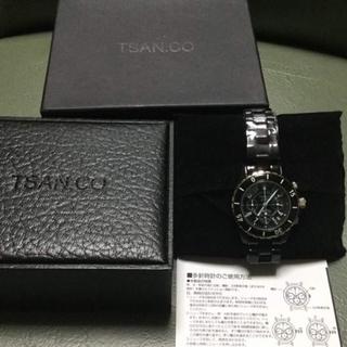 最終値下げ早い者勝ちTRANSACTION腕時計ブラッククロノグラフ限定新品