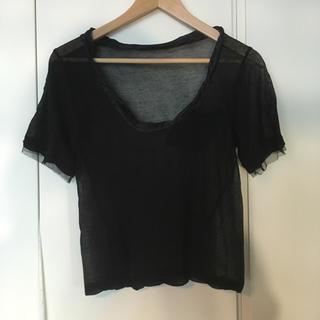 サカイラック(sacai luck)のTシャツ  シースルー  (Tシャツ(半袖/袖なし))