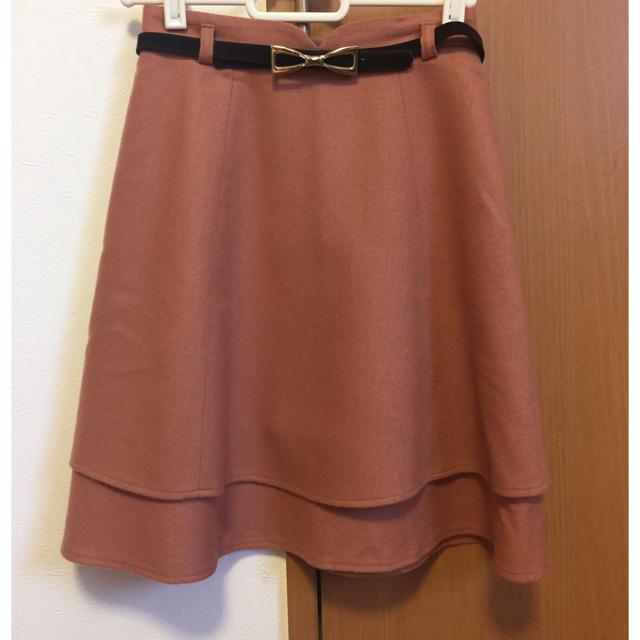 NETTO di MAMMINA(ネットディマミーナ)のベルト付き ネットディマミーナ34 オレンジスカート レディースのスカート(ひざ丈スカート)の商品写真