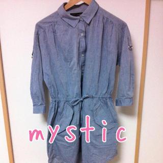 ミスティック(mystic)のmri様専用♡デニムワンピ(ひざ丈ワンピース)