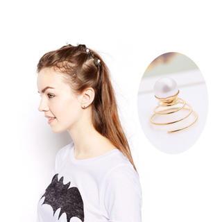 専用ページ 翌日発送【新品】パール スクリューピン5個セット レディースのヘアアクセサリー(ヘアピン)の商品写真