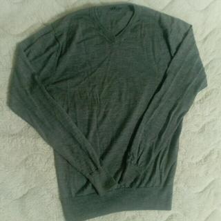 ムジルシリョウヒン(MUJI (無印良品))のスクールセーター グレー(ニット/セーター)