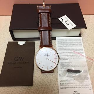 ダニエルウェリントン(Daniel Wellington)のダニエルウェリントン 腕時計 ローズゴールド ブラウン(腕時計(アナログ))