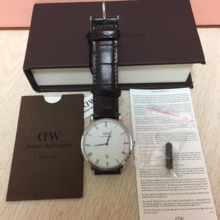 ダニエルウェリントン(Daniel Wellington)のダニエルウェリントン 腕時計 ブラウンクロコダイル ホワイト(腕時計(アナログ))