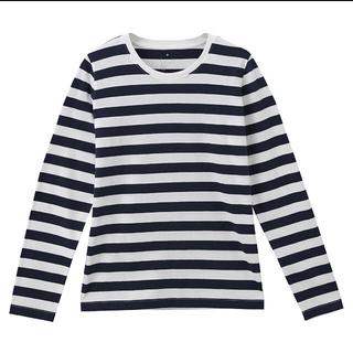 ムジルシリョウヒン(MUJI (無印良品))の無印良品  クルーネックTシャツ  ボーダー(Tシャツ(半袖/袖なし))