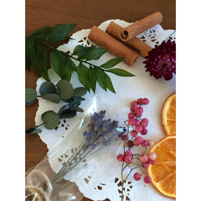 【再販7】プリザーブドフラワーとドライフラワー、ドライフルーツ アソートG ハンドメイドのフラワー/ガーデン(ドライフラワー)の商品写真