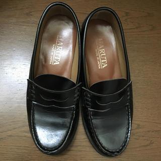 HARUTA 22センチ  ブラック(ローファー/革靴)