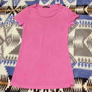 バーニーズニューヨーク(BARNEYS NEW YORK)のvelvet ピンク Tシャツ(Tシャツ(半袖/袖なし))