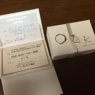 クミキョク(kumikyoku(組曲))の組曲 K10 ピンクゴールド ホワイトゴールド ピンキーリング #5→3.5(リング(指輪))