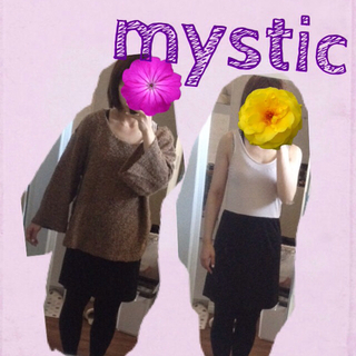 ミスティック(mystic)の【haru*mamaさんお取置16日迄】(ひざ丈ワンピース)