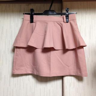 ワンアフターアナザーナイスクラップ(one after another NICE CLAUP)のペプラムタイトスカート(ミニスカート)