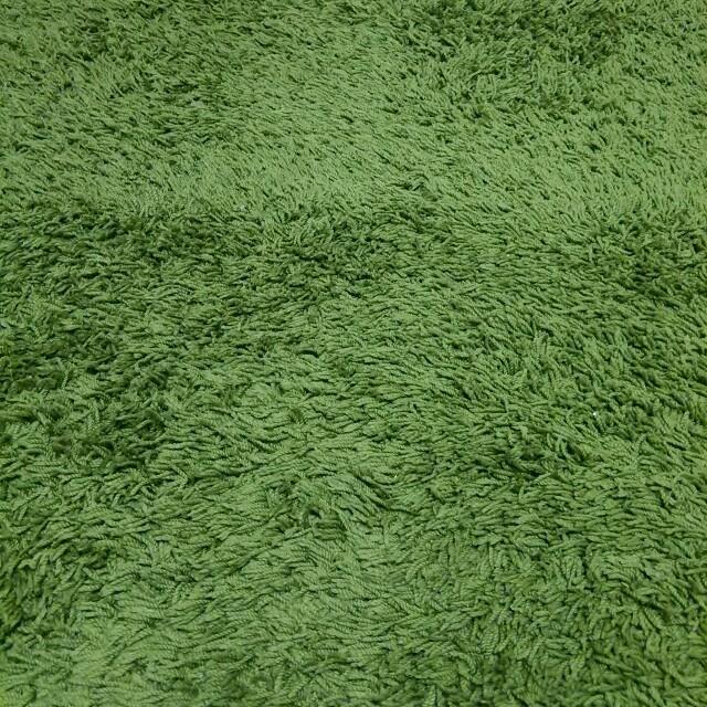 MUJI (無印良品)(ムジルシリョウヒン)の洗えるラグ☆グリーン☆130㎝×188㎝ インテリア/住まい/日用品のラグ/カーペット/マット(ラグ)の商品写真