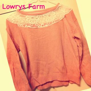 ローリーズファーム(LOWRYS FARM)のシースルーニット(ニット/セーター)