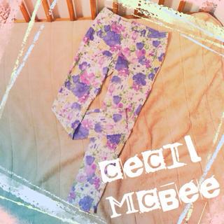 セシルマクビー(CECIL McBEE)の値下げ♡セシル 花柄スキニー(カジュアルパンツ)