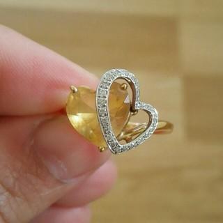 レナバァバ様専用 シトリン ダイヤモンド リング(リング(指輪))