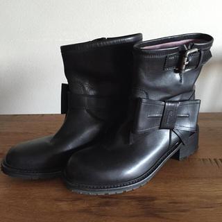 レッドヴァレンティノ(RED VALENTINO)のRED VALENTINO レッド ヴァレンティノ リボン ブーツ 37 美品(ブーツ)