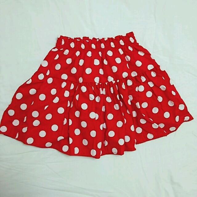 SPINNS(スピンズ)のSPINNS ミニ スカート 水玉 レディースのスカート(ミニスカート)の商品写真