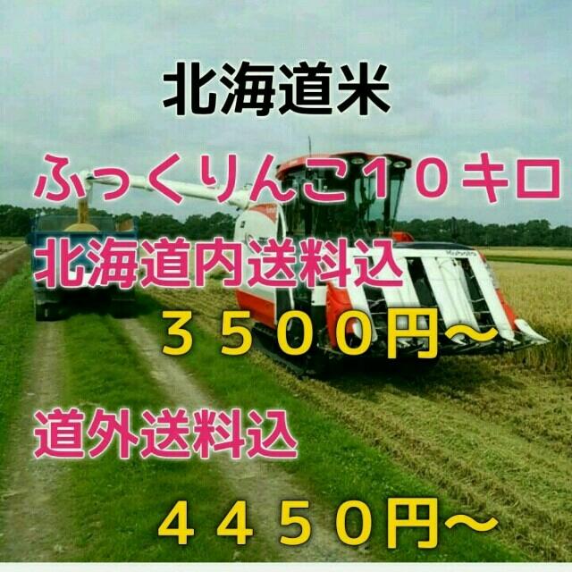 農家直送 北海道米 ふっくりんこ 5キロ 28年産 食品/飲料/酒の食品(米/穀物)の商品写真